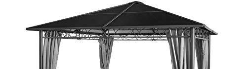 GRASEKAMP kwaliteit sinds 1972 vervangend dak Hardtop paviljoen Meran 3 x 3 m dubbelkanaalplaten polycarbonaat bruin