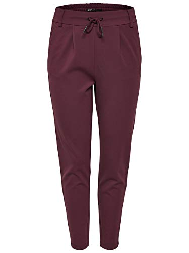 ONLY Damen Onlpoptrash Easy Colour Pant Pnt Noos Hose, Rot (Port Royale), S/L32