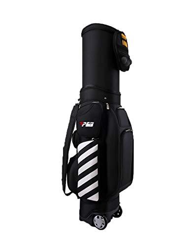 WYSTAO wasserdichte Golf-Teleskoptasche mit Riemenscheibe Hartschalen-Balldeckel-Airbag Multicolor Geeignet for Outdoor-Sportreisen Wasserdichter, Rutschfester, leicht zu tragender Golfkoffer