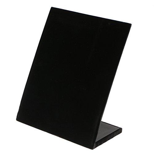 joyMerit Soporte en Forma de L Tablero de Terciopelo 30 Pares Pendiente Cuelga El Soporte del Perno Prisionero Almohadilla de Exhibición - Negro, Individual