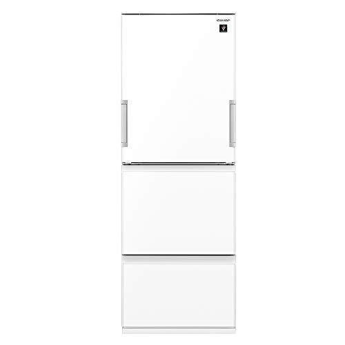 シャープ SHARP プラズマクラスター冷蔵庫(幅60.0cm) 356L 3ドア(両開き・どっちもドア) ピュアホワイト SJ...