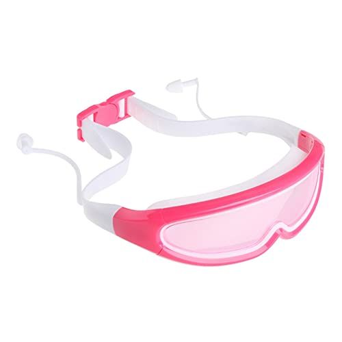 XUEXIU Gafas De Natación para Niños Buceo Amplio Visión Anti-Niebla con Tapones para Los Oídos 3-15 Años De Edad Adolescente Suministros De Natación (Color : White and Pink, Size : 14.5x4cm)