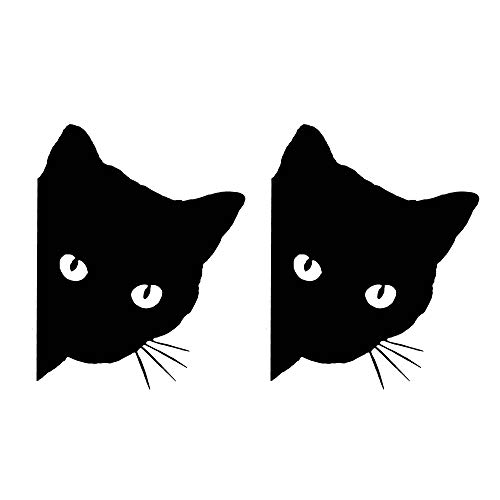 TOMALL 2PCS 6.1'' Cat Peeking Car Stickers Cat Watching Vinyl Reflective Decals Waterproof Funny...