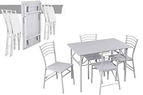 WEBMARKETPOINT Lot Table avec chaises en Bois Pliante 70 x 110 cm