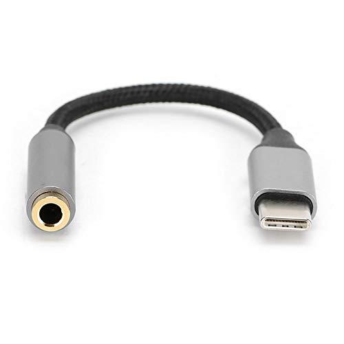 FOLOSAFENAR Tipo C a Conector de Audio Puerto de Audio a Conector Amplia compatibilidad Compacto, para teléfonos Tipo C(Gray)