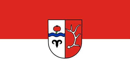 Unbekannt magFlags Tisch-Fahne/Tisch-Flagge: Hirschberg an der Bergstraße 15x25cm inkl. Tisch-Ständer