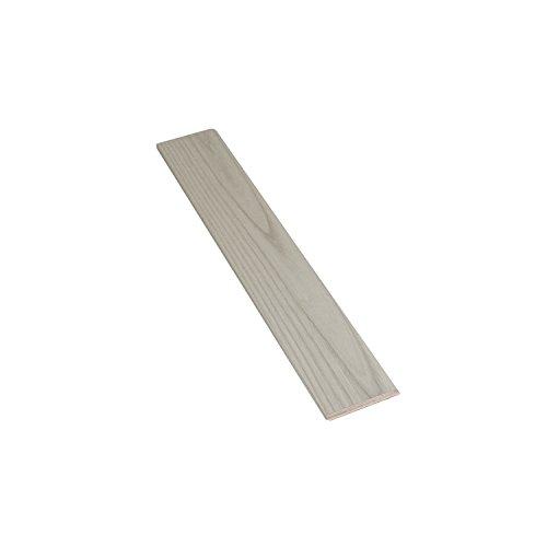 TWE - Tucci Wood Essence Battiscopa Moderno Tutto Legno in Frassino Tinto Grigio Spazzolato mm 10x70