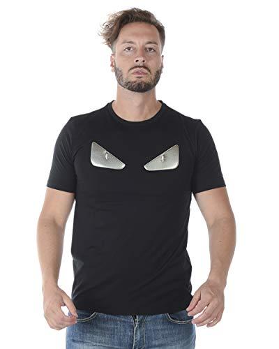 Fendi - Camiseta Hombre FY08281YB Negro 46