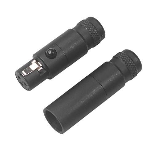 happygirr - Adaptador de Repuesto para reparación de Auriculares (Conector Mini XLR de 3 Pines Macho, Conector XLR Hembra pequeño de 3 Hilos, SA105, SA106, para Soldadura DIY, Varios Cables de Audio)