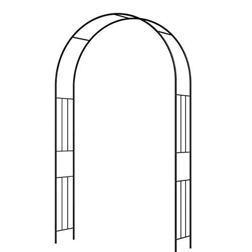 YYHJ - Arco de jardín de metal ligero para bodas, fiestas, bailes de graduación, cenador de jardín, enrejado, pérgola, para diferentes plantas trepadoras