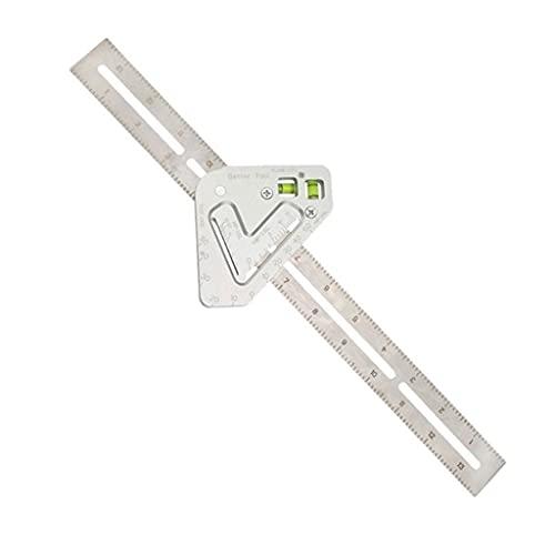 Aiglen Triángulo Multifuncional Regla De Ángulo Transportador De Nivel De Aleación De Aluminio De Alta Precisión Medida De Carpintería De Carpintería (Color : 150mm)
