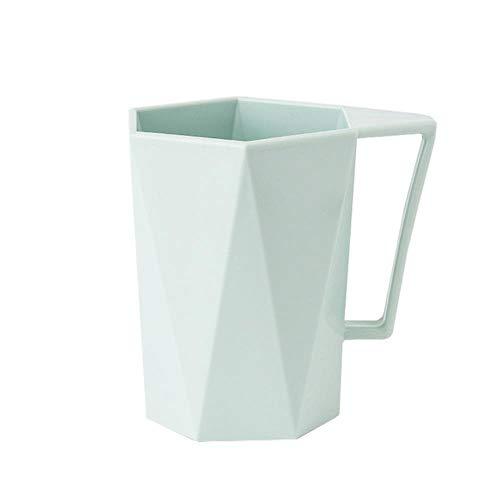 Unbekannt Kreative Neuheit Zahnbürste Tasse Persönlichkeit Milch Saft Zitronenbecher Kaffee Tee Wiederverwendbare Plastikbecher Küche Badzubehör, Mint Green, USA
