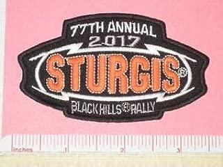 Sturgis South Dakota SD 77th Bike Motorcycle Black Hills Rally Orange Patch 2017 by HighQ Store