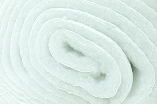 Guata sintética revestida por un lado con TNT – por medio metro – 300 g/m² – Tejido de tela, relleno de edredones, Dragon resinado para tapicería – Altura 115 cm – Grosor 2,5 cm – 1 Cantidad = 50 cm