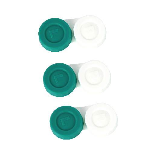 Kontaktlinse Behälter 3 Stück | Flaches Design Hohe Qualität | CE-Kennzeichnung und FDA-Zulassung | Aufbewahrung Unterwegs Behälter | Linsen Aufbewahrungsbehälter |Links & Rechts markiert Hergestellt in der UK | Mengenkauf Von Sports World Vision