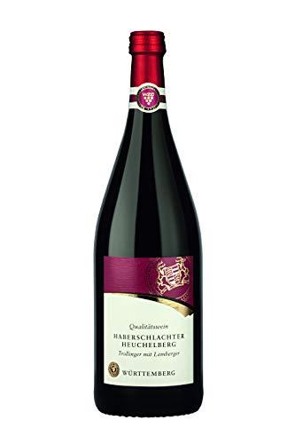 Württemberger Wein Haberschlachter Heuchelberg Trollinger mit Lemberger QW halbtrocken (1 x 1,0l)