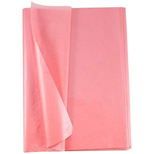 FRIUSATE 100 Hojas de Papel de Seda de Regalo Papel Seda para Envolver Regalos Papel de Seda Rosa Papel de Seda Decorativo para DIY Navidad Bodas Cumpleaños (50 X 35 cm Oro Rosa)