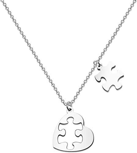 Jigsaw Puzzle Piece Autism Awareness Necklace Autism Teacher Gift Mother Autism Gift Autistic Pride Jewelry (Autism Puzzle Necklace)