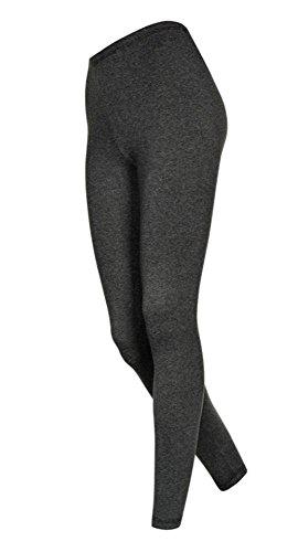 2 Stück Lange Damen Badmintonhosen, Dunkelgrau, L