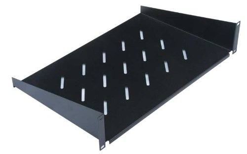DATARACKS 400mm FRONT FIXING SHELF - 2U **Suitable for wall or floor cabinets, Fixes to front rails only, Colour: Black** SM1-349-310