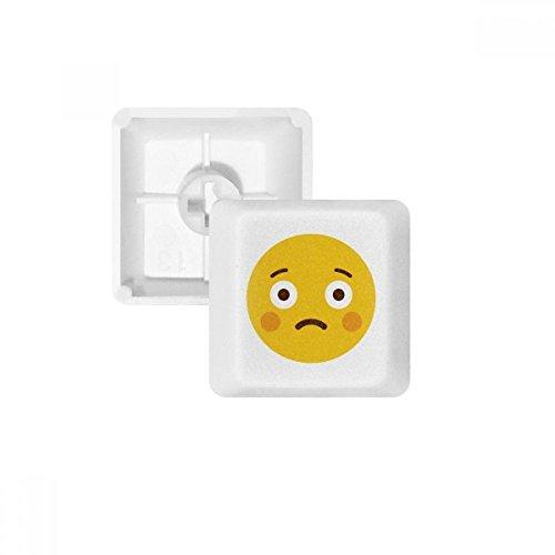 OFFbb Shy Amarillo Lindo Emoji en línea pbt Nombres de Teclas de Teclado mecánico Blanca OEM no Marcado Imprimir