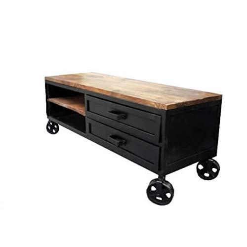 Mathi Design Industriel TV-meubel 140 op wielen