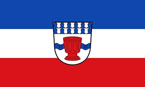 Unbekannt magFlags Tisch-Fahne/Tisch-Flagge: Obertaufkirchen 15x25cm inkl. Tisch-Ständer