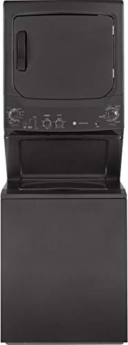 GE GUD27ESPMDG Spacemaker Series 27 Inch Electric Laundry Center with 3.8 cu. ft. Washer Capacity in Diamond Gray