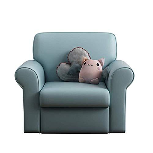Tägliche Ausstattung Sofastuhl Kindersofastuhl EIN kleines Lesesessel für Jungen und Mädchen Schlafzimmer Wohnzimmer Sofa Ergonomisches Design Sessel zum Lesen Entspannend (Farbe: Weiß Größe: 54x56