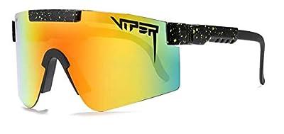 1AA Pit Viper Sport Googles Polarized Bike Adjustable Sunglasses (C6)