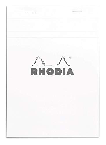 Rhodia Notepad, No16 A5, Squared - White