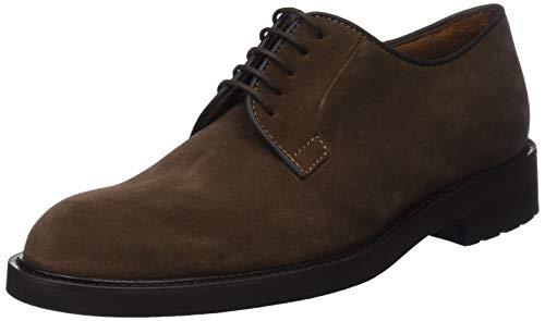 Lottusse L6692, Zapatos de Cordones Derby para Hombre, Marrón (Buckster Castor), 42.5 EU