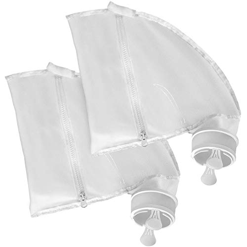 JamBer Nylon Mesh Pool Cleaner Bags,Bag Zipper Replacement for Polaris 280 & 480 Pool Cleaner All Purpose Filter Bag for 280 Polaris Replacement Bags,Pool Cleaner Replacement Part K13, K16, 2 Pack