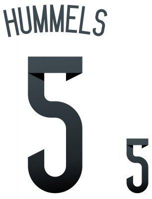 Flock Original WM 2014 DFB Deutschland Home Trikot HUMMELS 5, Größe:groß