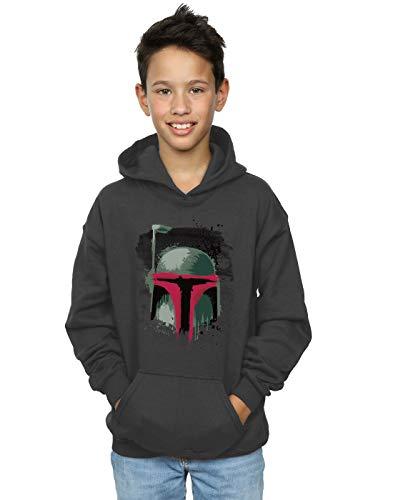 Star Wars Jungen Boba Fett Helmet Kapuzenpullover 9-11 Years Holzkohle