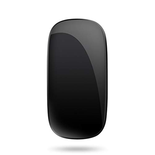 XIAOQIAO Wireless silent rechargeable bluetooth mouse, suitable for Apple macbookpro notebook mac computer air unlimited ipadpro tablet (Color : Black)