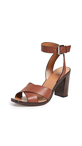 Dolce Vita Women's Nala Block Heel Sandals, Brown, 10 Medium US