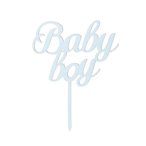 Hohe Qualität Baby Shower Lieferungen von Parteien Geschenke Baby Boy Girl Acryl Dekor Kuchen Topper Herzlichen Glückwunsch(Blue-Baby Boy)