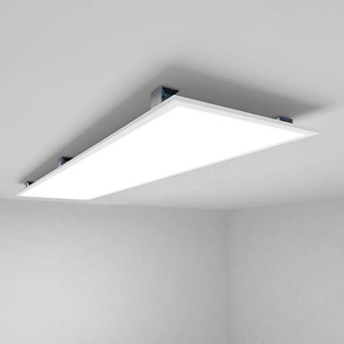LED Panel Deckenleuchte 120x30cm Kaltweiss 6000K Ultraslim 40W inkl. Trafo und Befestigungsmaterial für Industrie, Labors, Verkaufsräume, Küche, Badezimmer, Hobbyräume