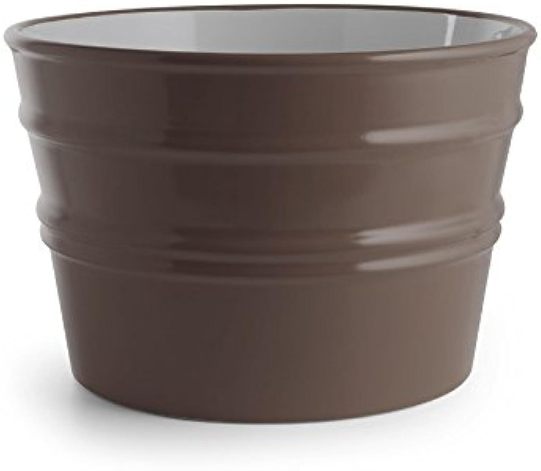 Rundes Aufsatzbecken wandhngend Waschbecken Bacile Matt Basalt 46,5x46,5xH30cm (Ohne handtuchhalter)