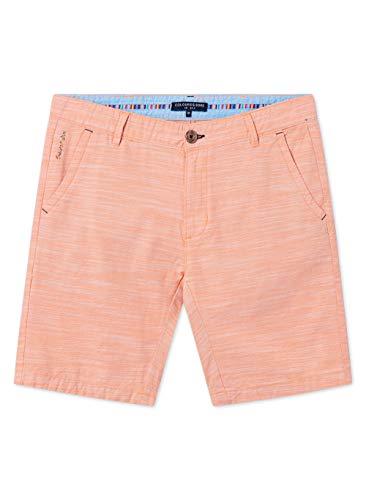 Colours & Sons Herren Shorts Slubby - Reine Baumwolle, Modern Fit, orange,M