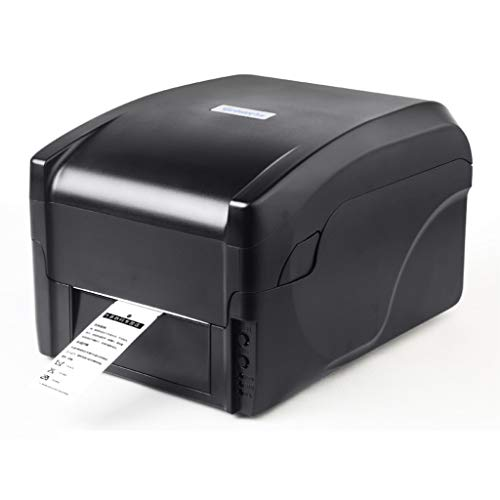 GYANG Desktop Thermal Label Printer, Barcode Maker High Speed Printing Machine, Width Adjustable for Shipping Express Clothing Label, Compatible with Windows,Black