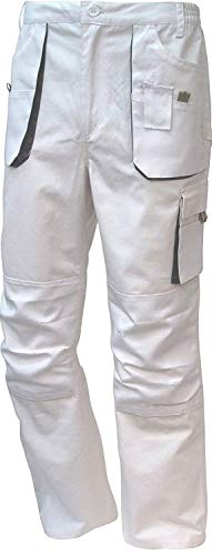 TRIUSO Arbeitshose Malerhose Bundhose Power Canvas 270g/m² weiß-grau Gr.42-68/25-30/90-110 (48)
