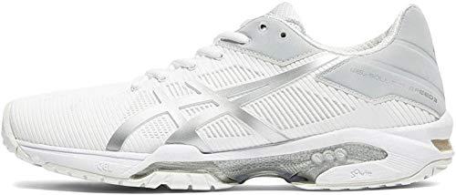 ASICS Gel-Solution Speed 3, Scarpe da Tennis Donna, Bianco (White/Silver), 38 EU