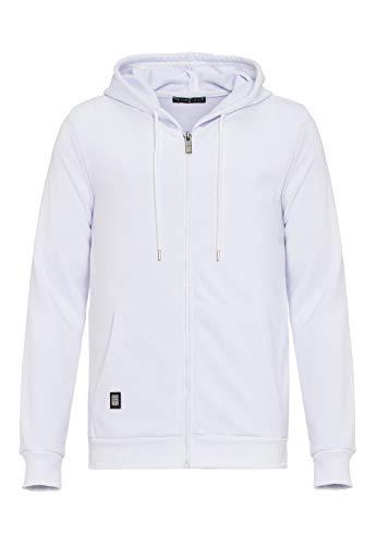 Redbridge Herren Sweatjacke Kapuzenpullover Zip Hoodie mit Reißverschluss Premium Basic Weiß S