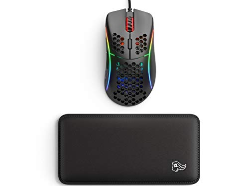 Glorious Model D, Matte Black (GD-Black) + Glorious Gaming Mouse Wrist Pad/Rest (Black)
