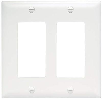 Legrand - Pass & Seymour TP262W Trade Master Wall Plate 2 Gang 2 Decorator, White, SMALL