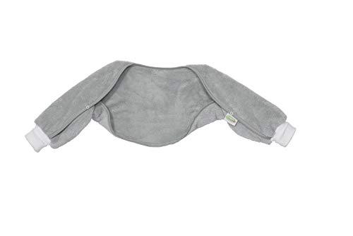 Odenwälder Ärmelinchen | Schlafsackärmel Babyschlafsack | Schlafsack Ärmel für Babyschlafsäcke | Oberstoff 100% Baumwolle, Größe:90, Design:grau