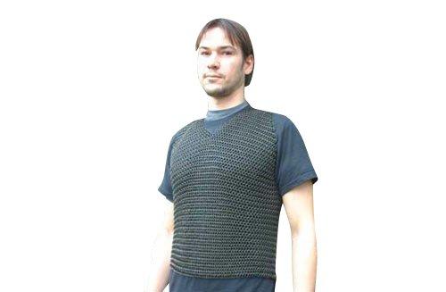 Aus Omas Truhe Kettenhemd verzinkt, ohne Ärmel, brüniert