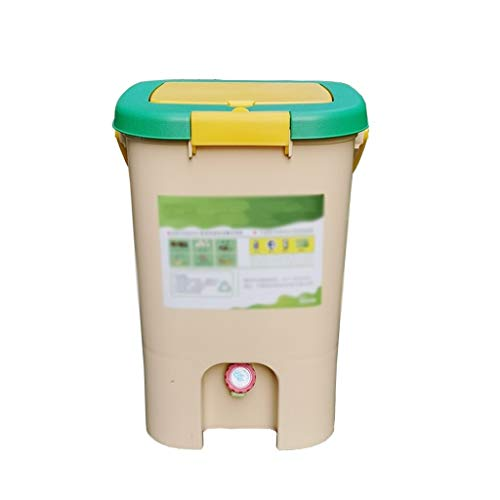 Review Food Waste Compost Barrel 21L, Home-Made Fermentation Barrel Organic Fertilizer Compost Bin, ...